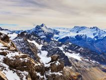Wintertime view from Mt. Titlis in Switzerland Stock Photography