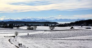 Wintertime. In Bavaria Royalty Free Stock Photography