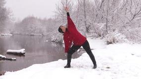 Wintertime Yoga Practice stock video