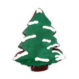 WinterTree Cookie. Winter tree cookie on white stock photo