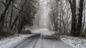 Wintertunnel lizenzfreie stockfotos