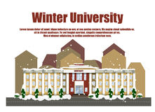 Winteruniversität Lizenzfreie Stockfotos