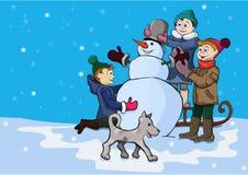 Winterunterhaltungen der Kinder Stockfoto