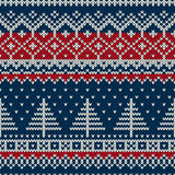 Winterurlaub-nahtloses gestricktes Muster Stockfoto