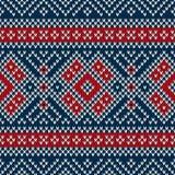 Winterurlaub-nahtloses gestricktes Muster Lizenzfreie Stockbilder