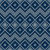 Winterurlaub-nahtloses gestricktes Muster Stockfotos