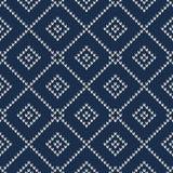 Winterurlaub-nahtloses gestricktes Muster Stockbilder