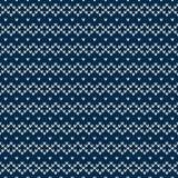 Winterurlaub-nahtloses gestricktes Muster Lizenzfreies Stockfoto