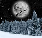 Winterurlaub-Themahintergrund Lizenzfreies Stockfoto
