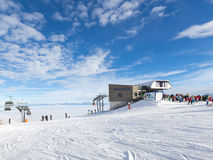 Winterurlaube über den Wolken Lizenzfreie Stockfotos