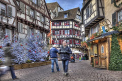 Winterurlaube in Colmar Lizenzfreie Stockfotos
