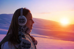 Winterurlaube in den Bergen Lizenzfreie Stockfotografie