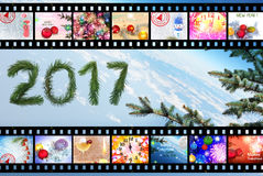 Winterurlaube 2017 feier Auszug Lizenzfreie Stockfotografie