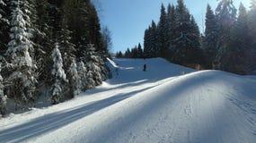 Winterurlauberholungsort in KrkonoÅ-¡ e Bergen Lizenzfreies Stockfoto