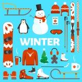 Winterurlaubgegenstände Lizenzfreies Stockfoto