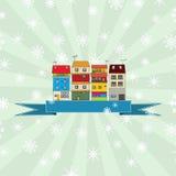 Winterurlaubkarte Stockfoto