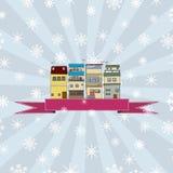 Winterurlaubkarte Lizenzfreie Stockfotografie