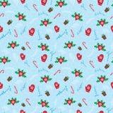 Winterurlaubmuster der frohen Weihnachten Stockfotos