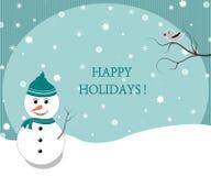 Winterurlaubpostkarte Lizenzfreies Stockbild