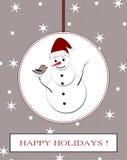 Winterurlaubpostkarte Lizenzfreies Stockfoto