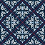 Winterurlaubstrickjackendesign auf der Wolle strickte Beschaffenheit Lizenzfreies Stockfoto