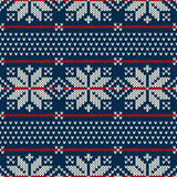 Winterurlaubstrickjackendesign auf der Wolle strickte Beschaffenheit Lizenzfreie Stockbilder