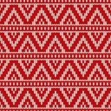 Winterurlaubstrickjackendesign auf der Wolle strickte Beschaffenheit Stockfoto