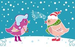 Wintervögel Lizenzfreie Stockfotografie