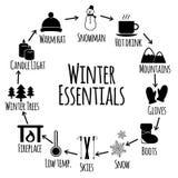 Wintervektor-Ikonensatz Lizenzfreie Stockfotos