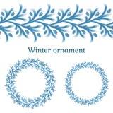 Winterverzierung Muster für Weihnachtsdekoration vektor abbildung