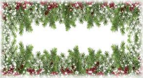Winterverzierungen von den natürlichen Materialien Weihnachtsbaum, Kegel, Stockfoto