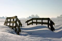 Winterview in The Netherlands Stock Photo