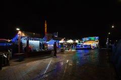 Winterville - ένα χωριό Χριστουγέννων στο Βικτόρια Παρκ Στοκ Φωτογραφία