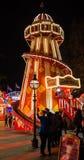 Winterville -圣诞节村庄在维多利亚公园 免版税库存图片