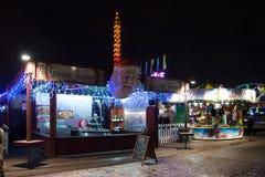 Winterville - un villaggio di Natale in Victoria Park immagini stock