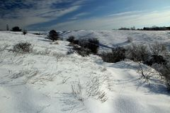 Winterwüste Stockbild