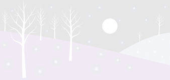 Winterwald. Lizenzfreie Stockfotos