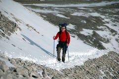 Winterwanderung Stockfoto