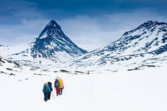 Winterwanderung Lizenzfreie Stockfotografie