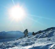 Winterwanderung Lizenzfreies Stockfoto
