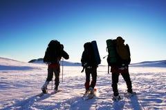 Winterwanderung Lizenzfreies Stockbild