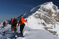 Winterwanderung Lizenzfreie Stockbilder