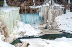 Winterwasserfall lizenzfreies stockbild