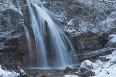Winterwasserfall Stockfotos