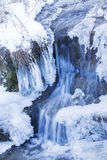 Winterwasserfall Stockfotos