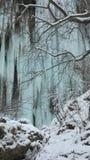 Winterwasserfall Lizenzfreie Stockfotografie