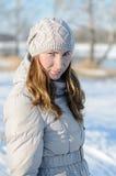 Winterweg. stockbilder