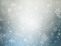 Winterweihnachtshintergrund mit Schneeflocken lizenzfreie abbildung