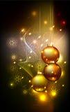 Winterweihnachtskarte Stockbild