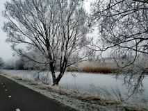Winterwetter Stockfoto